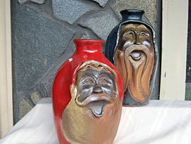 North Carolina Pottery - Face Jugs